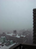 First snowfall of the year in New York City...