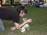 Thompkins Square Park - Man and Dog...