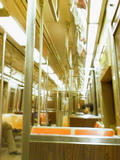 The R train, heading home from Brooklyn...