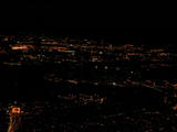 Lower Manhattan from the air, after dark...