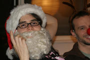 Santa and Friend after a long day with  Santacon  ...