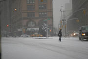 The first blizzard of 2005, NYC...