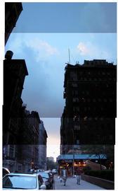 Sunset on Washington Square North, NYC...